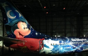 westjet-magic-plane-mickey-mouse-e1386022759145
